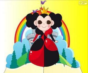 Układanka Królowa Kier, krokiet jest jej hobby
