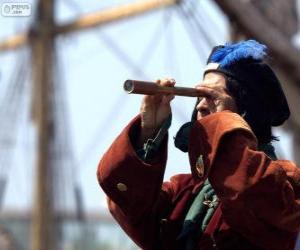 Układanka Krzysztof Kolumb dotarł nowego świata, odkrycie Ameryki