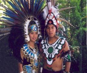 Układanka Książę i księżniczka Aztec