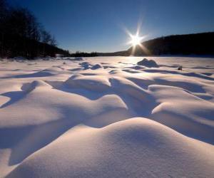 Układanka kształtów falisty w Eagle Lake Ontario, Kanada