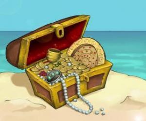 Układanka Kuferek skarbów