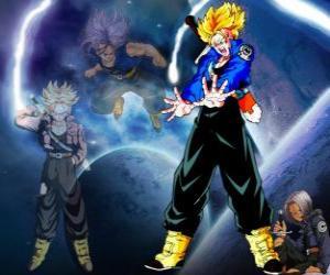Układanka Kufry jest pół człowiekiem, pół Saiyan, Vegeta i Bulma syn i brat Bra. W przyszłości, jedyne Saiyajin także opiekunem ziemi.