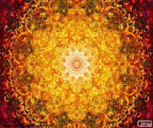 Układanka Kwiat mandala życia