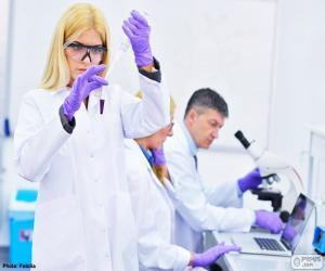 Układanka Laboratorium farmaceutyczne