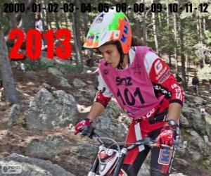 Układanka Laia Sanz, mistrz świata trial 2013