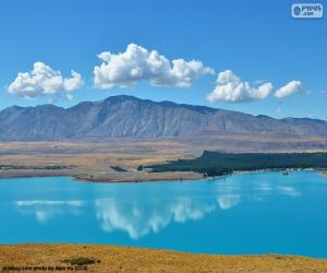 Układanka Lake Tekapo, Nowa Zelandia