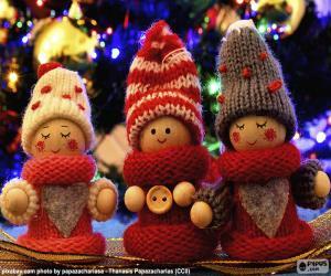 Układanka Lalki świąteczne