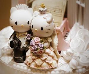 Układanka Lalki Wedding Hello Kitty i Dear Daniel