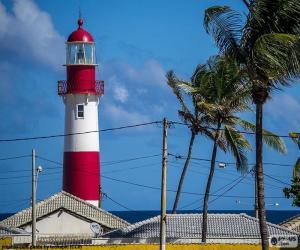 Układanka Latarnia morska Itapuã, Brazylia