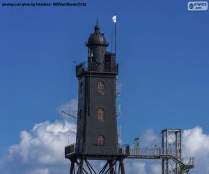 Układanka Latarnia morska Obereversand, Niemcy