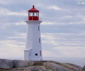 Układanka Latarnia morska w Peggys Point, Kanada