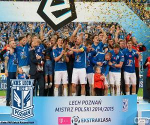 Układanka Lech Poznań mistrz 14-15