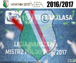 Układanka Legia mistrz 2016-2017