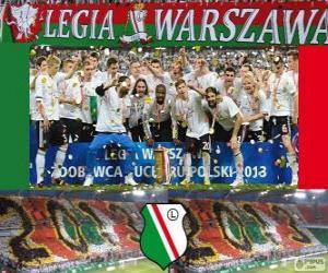 Układanka Legia Warszawa, mistrz Ekstraklasa 2012-2013, Polska Piłka nożna