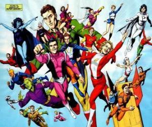 Układanka Legion of Super-Heroes to zespół superbohatera komiksów należących do wszechświata należącej do redakcji DC.