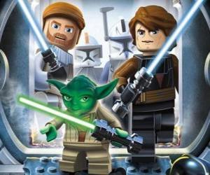 Układanka Lego Star Wars: Yoda, Luke Skywalker, Obi-Wan Kenobi