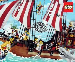 Układanka Lego statek piracki