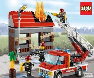 Układanka Lego strażaków