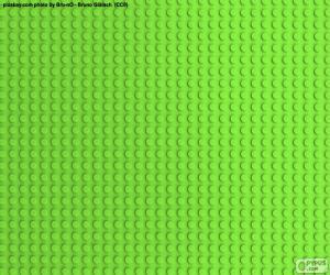 Układanka LEGO Zielona płytka konstrukcyjna