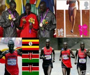 Układanka Lekkoatletyka ludzie maraton Londyn 2012