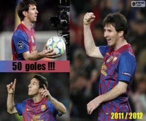 Układanka Leo Messi, król strzelców w historii ligi hiszpańskiej, 2011-2012