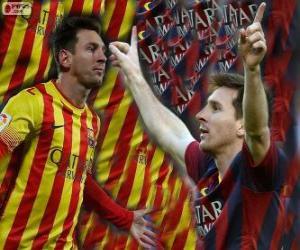 Układanka Leo Messi, najlepszym strzelcem w historii klubu FC Barcelona