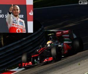 Układanka Lewis Hamilton świętuje swoje zwycięstwo w Grand Prix Włoch 2012