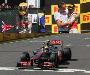 Układanka Lewis Hamilton feiert seinen Sieg in der Grand Prix von Kanada (2012)