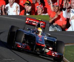 Układanka Lewis Hamilton - McLaren - Melbourne, Grand Prize of Australia (2012) (3 stanowiska)