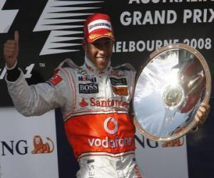 Układanka Lewis Hamilton na podium