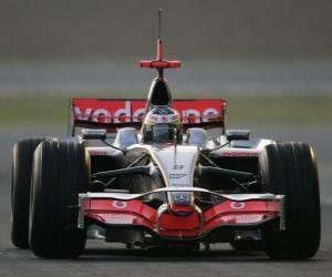 Układanka Lewis Hamilton pilotowanie jej F1