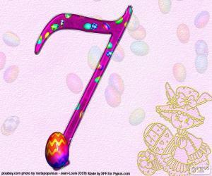Układanka Liczba siedem Wielkanocy