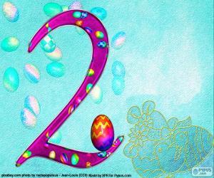Układanka Liczba Wielkanoc