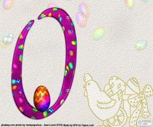 Układanka Liczba zero Wielkanocy