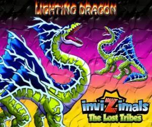 Układanka Lightning Dragon. Invizimals Zaginione Plemiona. Ten smok Invizimala dominuje moc błyskawica i grzmot