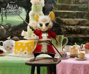 Układanka Liron, mysz nosi bryczesy.