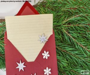 Układanka List do Świętego Mikołaja