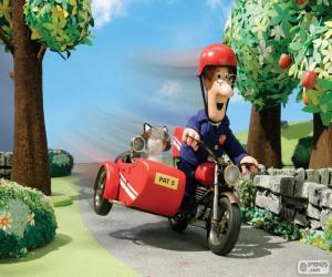 Układanka Listonosz Pat z jego motocykl