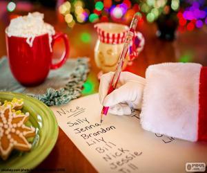 Układanka Listy Świętego Mikołaja