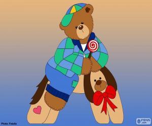 Układanka Litera A niedźwiedzie