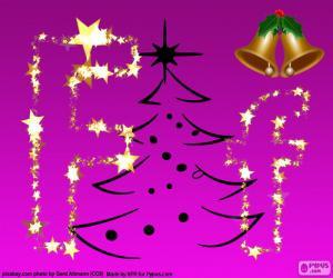 Układanka Litera F na Boże Narodzenie