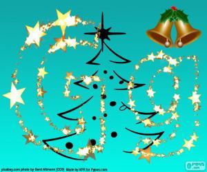 Układanka Litera G list Boże Narodzenie