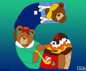 Układanka Litera G niedźwiedzie