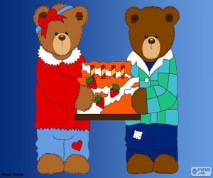 Układanka Litera H niedźwiedzie