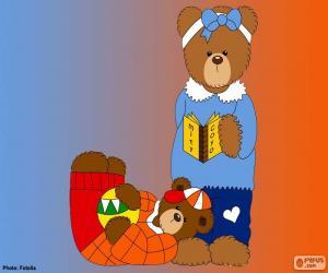 Układanka Litera J niedźwiedzie