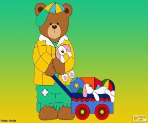 Układanka Litera L niedźwiedzie