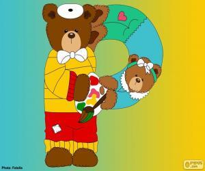 Układanka Litera P niedźwiedzie