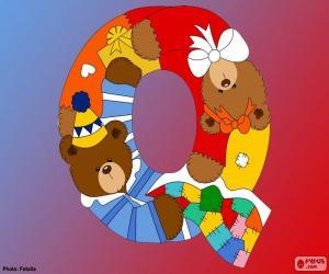 Układanka Litera Q niedźwiedzie