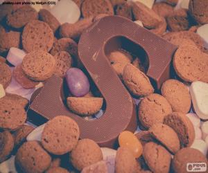 Układanka Litera S czekolady