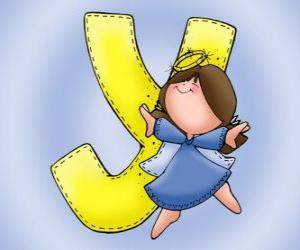 Układanka Litera Y z aniołem